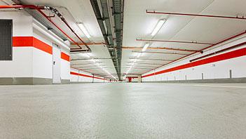 Hypertectum ® duoflex coating voor parkeer garages