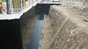 Hypertectum ® duoflex coating voor het waterdicht maken van kelders